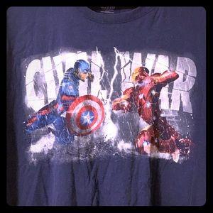 Marvel Shirts - Marvel Captain America Civil War T-Shirt, 3XLT